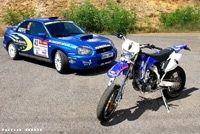 Vidéo Mauto : Yamaha WR 450F vs Subaru Impreza Gr. N