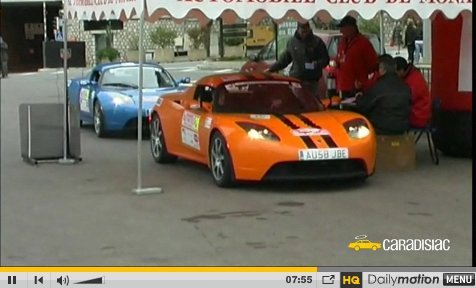 Caradisiac TV : Valence-Monaco en Tesla Roadster sans recharger