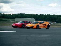 Top Gear : McLaren MP4-12C vs Ferrari 458 Italia, round 4, fight !
