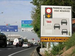 Taxis: ils ne veulent pas des VTC sur la voie réservée de l'A1