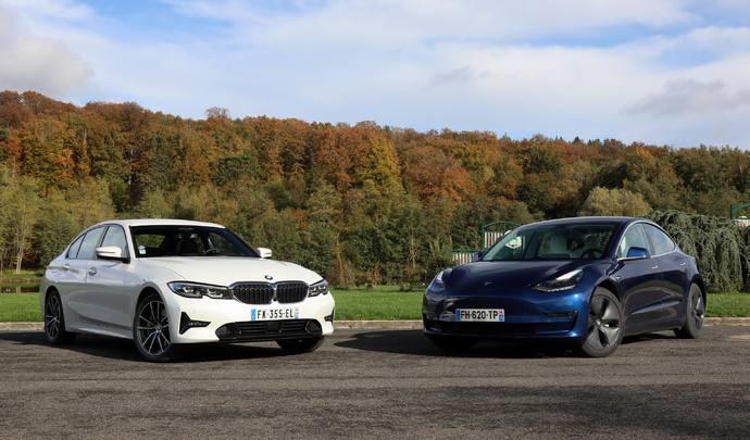 Comparatif vidéo - BMW Série 3 vs Tesla Model 3 : la guerre de 3