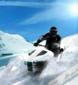 Ludovic Lazareth a encore frappé : Snow Track Mobile, son prototype de scooter des neiges à trois chenillettes