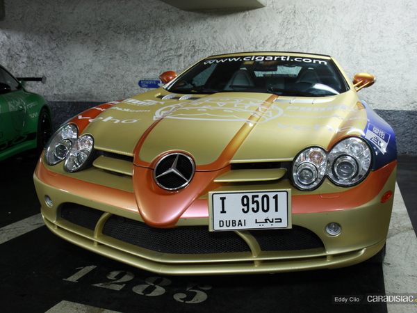 Photos du jour : Mercedes SLR Roadster (Gumball)