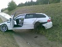 Une BMW M5 Touring au tas !