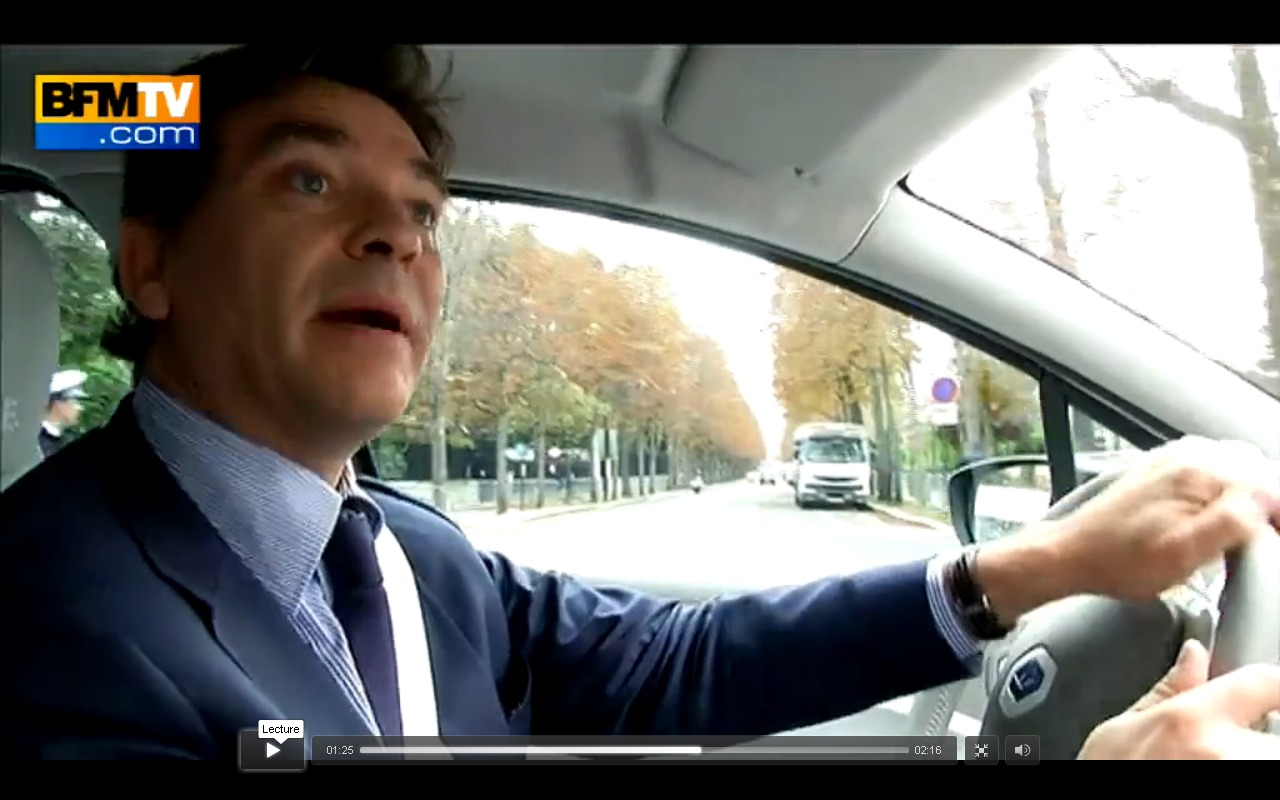 arnaud montebourg en flagrant d lit d 39 exc s de vitesse en renault zo. Black Bedroom Furniture Sets. Home Design Ideas