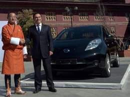 Ecologie: la Nissan Leaf appuie sur le Bhoutan