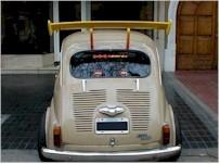La saucisse du vendredi : Fiat 600 on fire !!!
