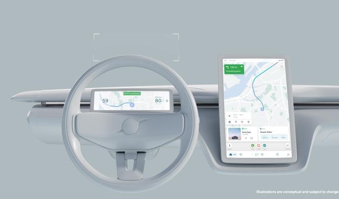 Volvo annonce son nouveau système embarqué similaire à celui d'un smartphone