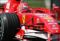 Les deux Ferrari devant lors de la 3e séance des essais libres du GP d'Europe