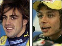 Fernando Alonso et Valentino Rossi de nouveau face à face