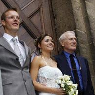 Sébastien Bourdais se marie au Mans sous l'œil de Paul Newman