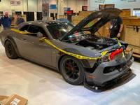 Une Dodge Challenger volée puis accidentée exposée au SEMA Show