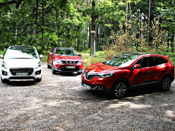 Comparatif vidéo - Le Renault Kadjar face à ses rivaux Peugeot 3008 et Nissan Qashqai