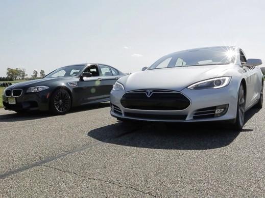 BMW M5 vs Tesla Model S : étonnamment proches