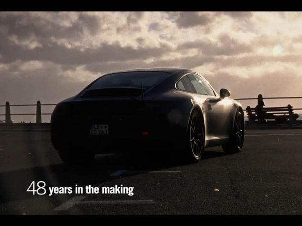 Future Porsche 911 type 991 : le teaser vidéo