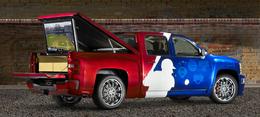 SEMA Show : Chevrolet Silverado Major League Baseball Concept