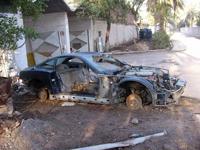 Feu le garage d'Uday Hussein