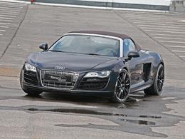 Audi R8 Spyder par Sport Wheels : 600 chevaux et des jantes noires
