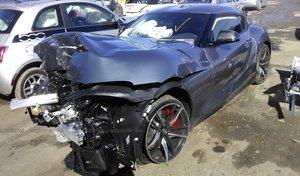 Est-ce là la première Toyota Supra accidentée ?