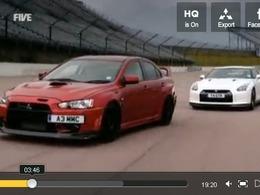 5th Gear : Nissan GT-R vs Mitsubishi Lancer FQ400, Audi A1 et Tesla Roadster S