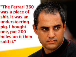 Juan Pablo Montoya n'aimait vraiment pas la Ferrari 360 Modena
