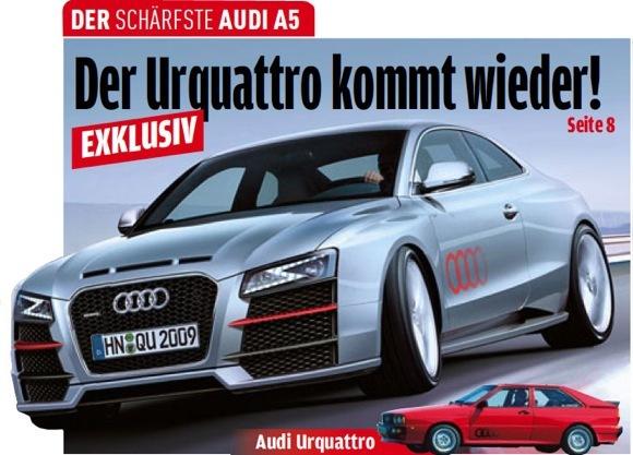 Audi prépare une A5 quattro sport allégée à moteur V6 biturbo!
