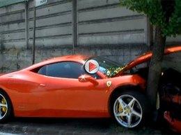 Very bad trip : il achète une Ferrari 458 Italia, puis la crashe à Maranello à coté de l'usine