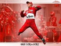La leçon de pilotage: Schumacher en action.