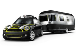 Camping branchouille en Mini Clubman et caravane Airstream