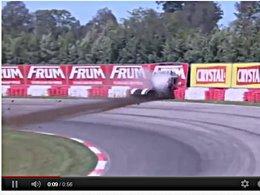 [vidéo] Quand un camion de course perd les freins ...