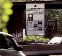 Une voie réservée pour les taxis et les bus sur l'A1