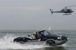 Record pour la traversée de la Manche en véhicule amphibie