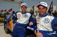 L'équipe officielle Volkswagen prête pour le rallye du Maroc
