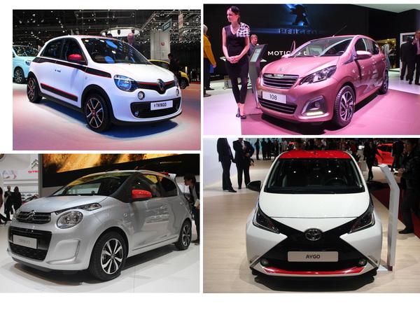 Vidéo en direct du salon de Genève 2014 - Citroën C1, Peugeot 108, Toyota Aygo et Renault Twingo s'affrontent déjà !