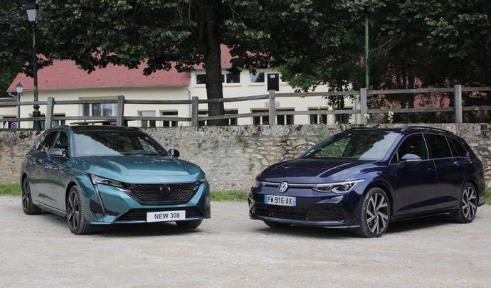 Comparatif vidéo - Peugeot 308 SW vs. Volkswagen Golf SW (2021): fortes en coffre