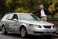 Richard Branson et sa Saab 9-5 Biopower veulent promouvoir l'E85