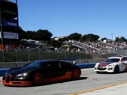 [Vidéo] La Bugatti Veyron Super Sport préside à Laguna Seca