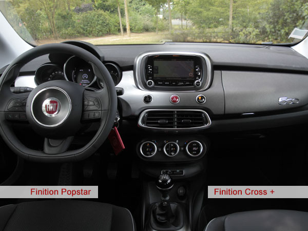 a l 39 int rieur de la fiat 500 x 1 4 multiair 140 ch. Black Bedroom Furniture Sets. Home Design Ideas