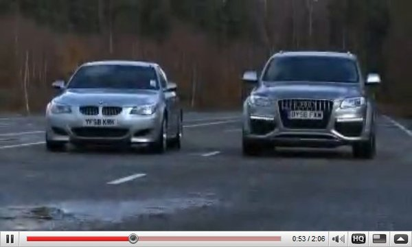 [vidéo] : BMW M5 vs Audi Q7 V12 TDI : and the winner is ...