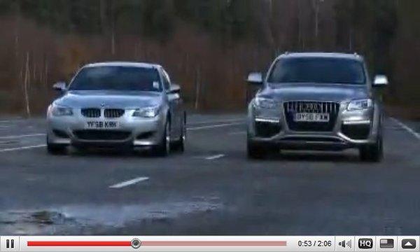 [vidéo] : BMW M5 vs Audi Q7 V12 TDI : and the winner is ...