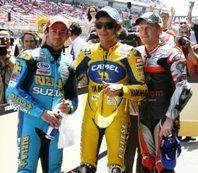 Moto Gp Espagne : Rossi/Hayden, duel au milieu des chutes.