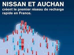 Nissan et Auchan s'associent pour créer le premier réseau de recharge rapide en France