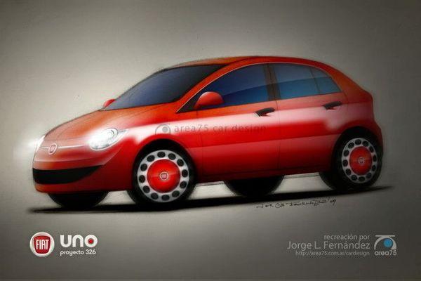 Nouvelle Fiat Uno: les 1ers spyshots