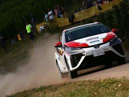 La Toyota Mirai fait une apparition en WRC