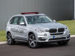 "BMW : le X5 hybride rechargeable, ""rescue car"" en Formule E"