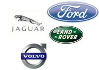 PAG Ford : Volvo en rouge, Jaguar et Land Rover en vert
