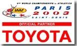 Toyota, partenaire du championnat du monde d'athlétisme