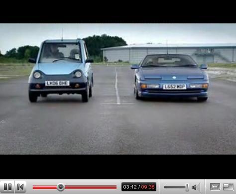 Vidéo Jeremy Clarkson: Alpine A610 contre...