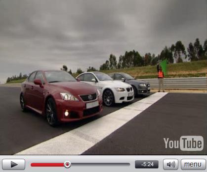 Vidéo : Lexus IS-F vs BMW M3 vs Audi RS4