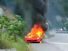 [Vidéo] Pour changer : une Ferrari 458 Italia en feu, cette fois en Chine
